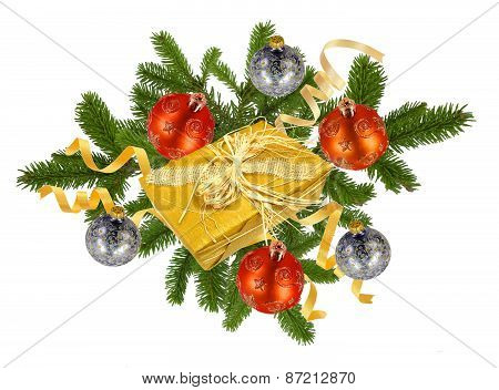 Christmas Concept With Decoration And Giftbox
