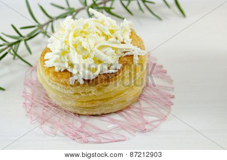 Homemade Puff Pastry With Cheese And Rosemary