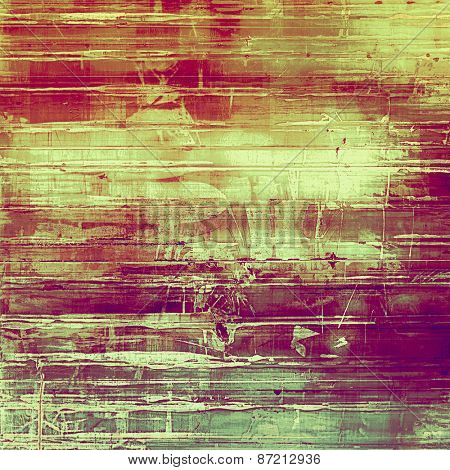 Highly detailed grunge texture or background. With different color patterns: yellow (beige); purple (violet); red (orange); green