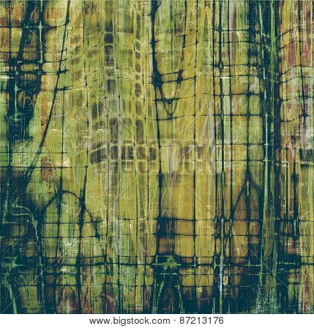 Aged grunge texture. With different color patterns: yellow (beige); brown; gray; green