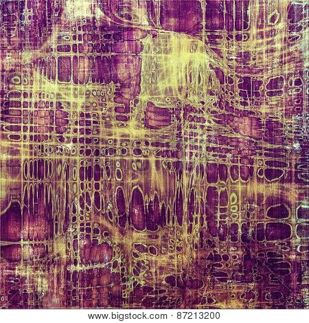 Old grunge textured background. With different color patterns: yellow (beige); brown; purple (violet)