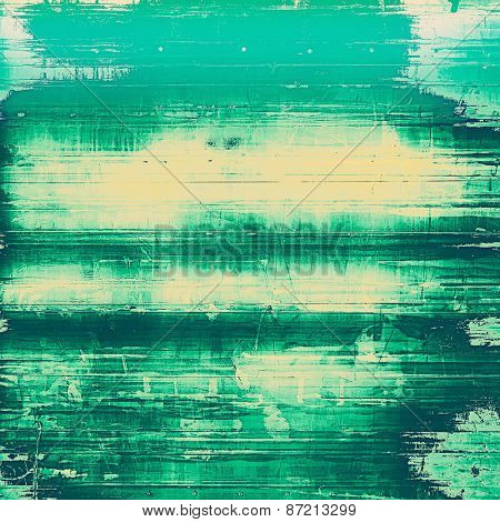Grunge colorful background. With different color patterns: yellow (beige); green; cyan