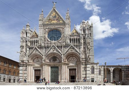 SIENA, ITALY - MAY 06, 2014: Photo of Siena Cathedral.