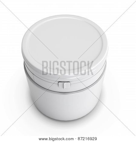 Wwhite Plastic Can For Products