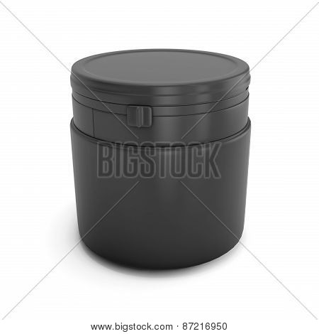 Template Black Plastic Can For Products