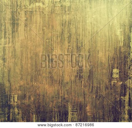 Old, grunge background texture. With different color patterns: yellow (beige); brown; gray