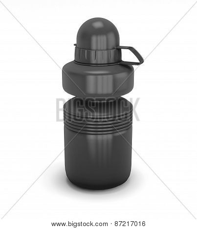 Template Black Collapsible Sport Water Bottle For Your Design