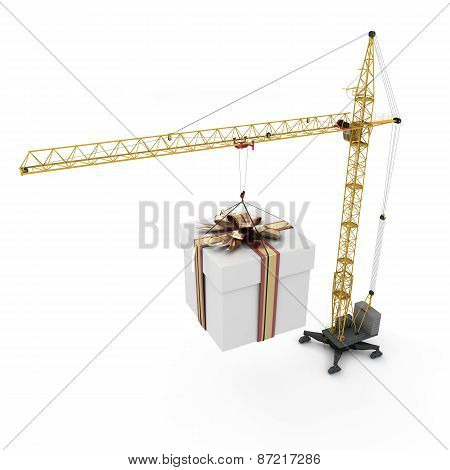 Crane With Hanging Gift