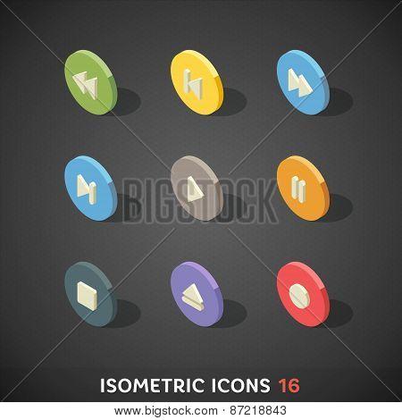 Flat Isometric Icons Set 16