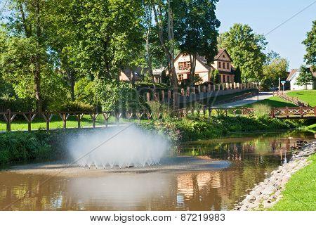Park In Kuldiga, Latvia