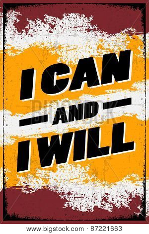 I Can and I Will Retro Poster