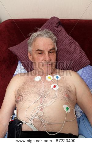 Man With A Holter Monitor