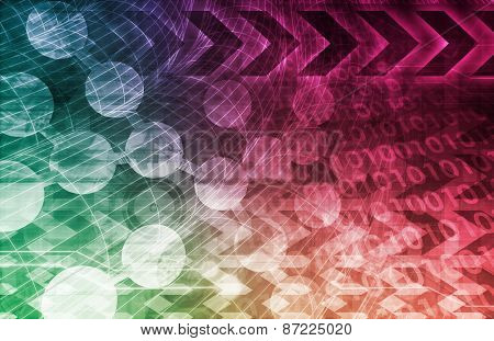 Medical Background with DNA Science Abstract Art
