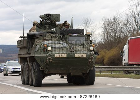 Dragoon Ride - US Army Convoy Drives Through Czech Republic