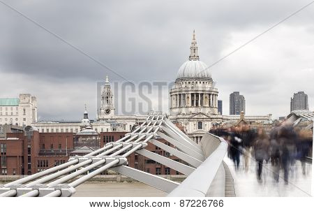 Millenium Bridge And St Pauls