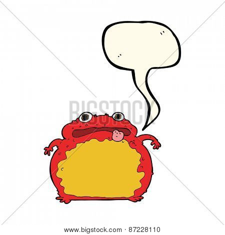 cartoon poisonous toad
