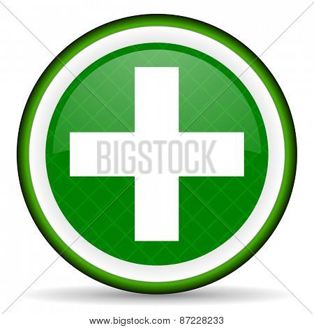 plus green icon cross sign
