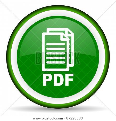 pdf green icon pdf file sign