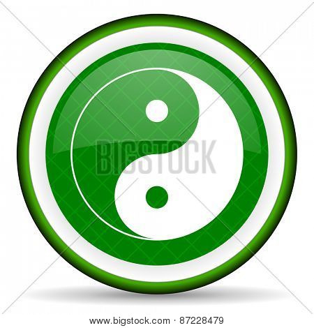 ying yang green icon
