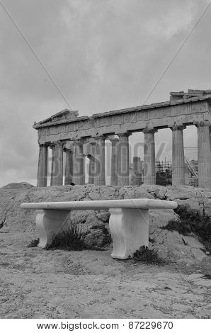 Bench at the Parthenon