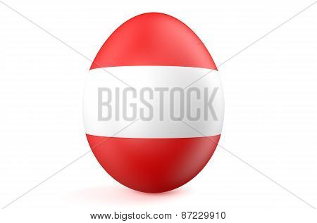Easter Egg With The Flag Of The Austria