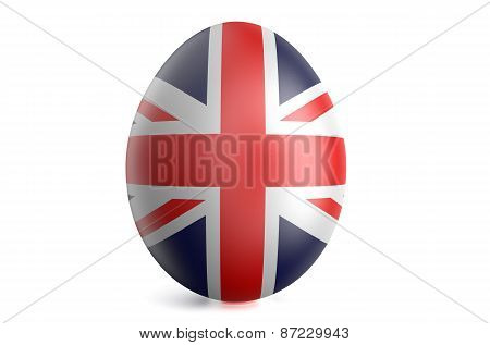 Easter Egg With The Flag Of The Great Britain