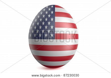 Easter Egg With The Flag Of The Usa