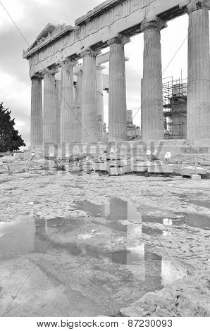 Puddle at Parthenon