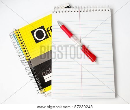 The Notebook And The Red Handle