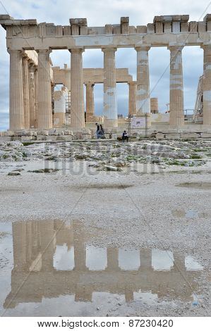 Reflection of the Parthenon