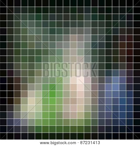 Mosaic background. Abstract raster illustration.