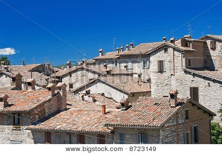View of Gubbio. Umbria.