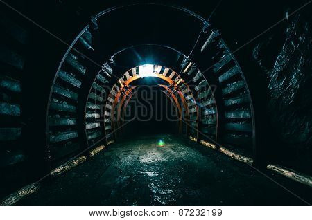 Underground Tunnel In The Mine