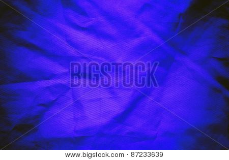 Blue Textile Background Or Texture