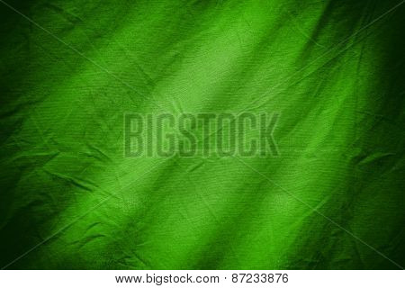 Green Textile Background Or Texture