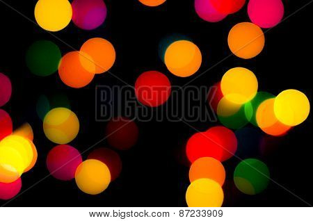 Abstract Circular Bokeh Background Of Christmaslight