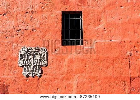 Red Santa Catalina Monastery Wall