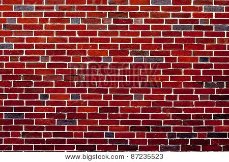 Background of red brick wall pattern texture backdrop wallpaper