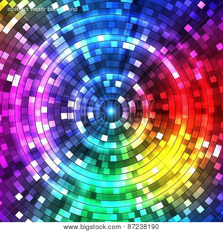 Abstract Colorful Tunnel. Background. Vector
