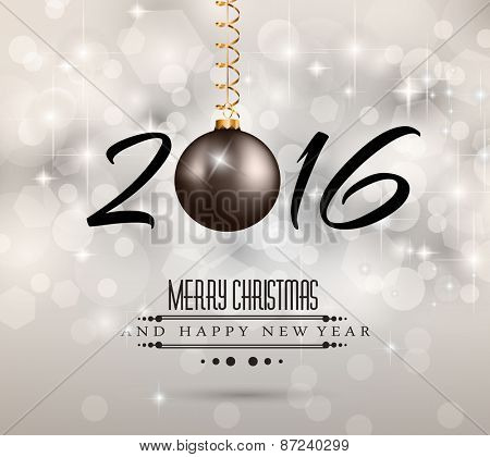 2016 New Year and Happy Christmas background for your flyers, invitation, party posters, greetings card, brochure cover or generic banners.