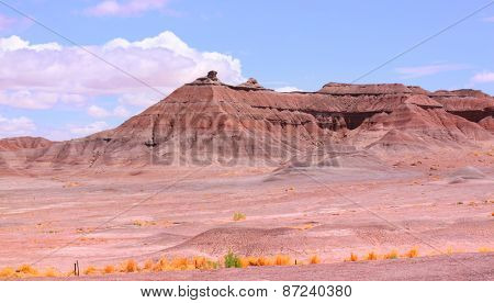 Panoramic view of Red rock buttes in Arizona