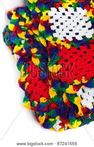 Granny squares of crochet