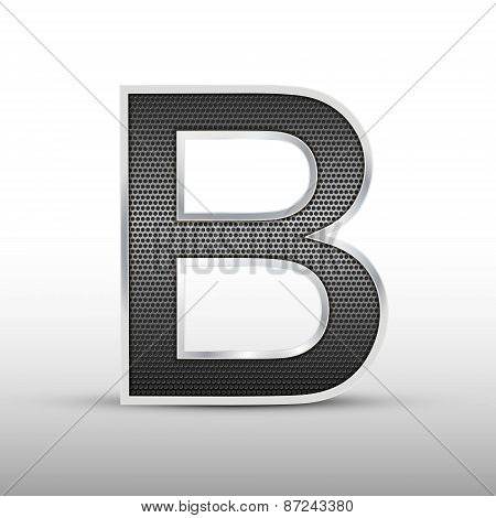 3D Speaker Grille Letter B