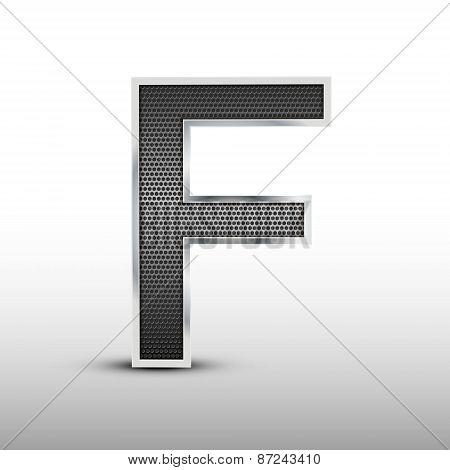 3D Speaker Grille Letter F