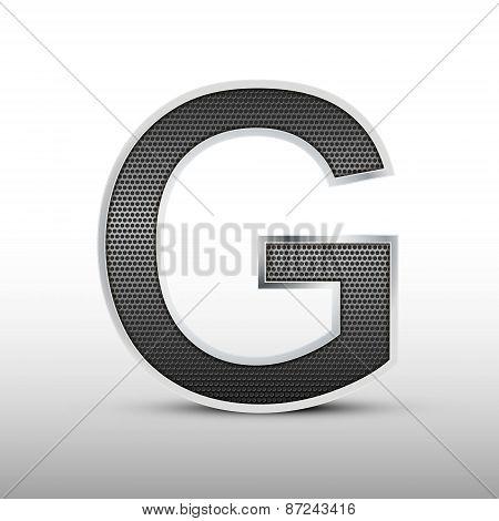 3D Speaker Grille Letter G
