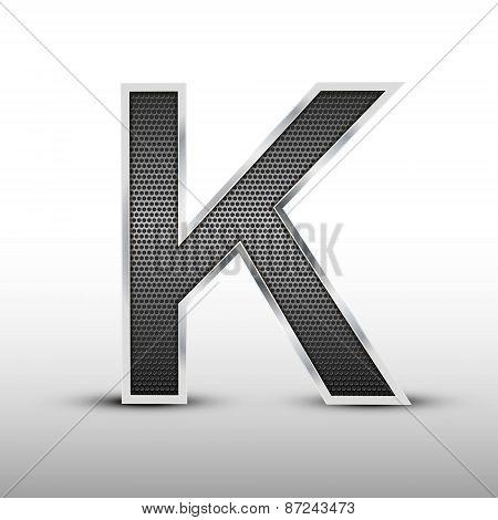 3D Speaker Grille Letter K
