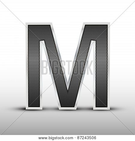 3D Speaker Grille Letter M