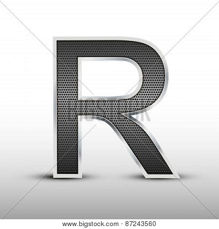 3D Speaker Grille Letter R