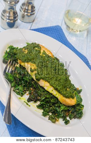 Island Fish With Pesto