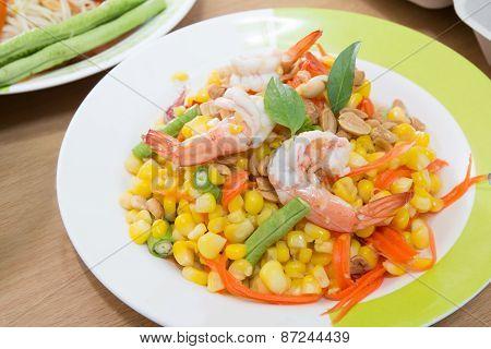 Corn Salad With Shrimp